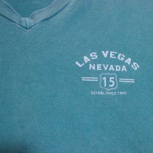 Las Vegas Tee Super Soft Vintage V-neck tourist NV
